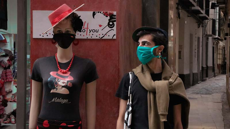 The new normal in Corona-Zeiten: Masken und Abstand