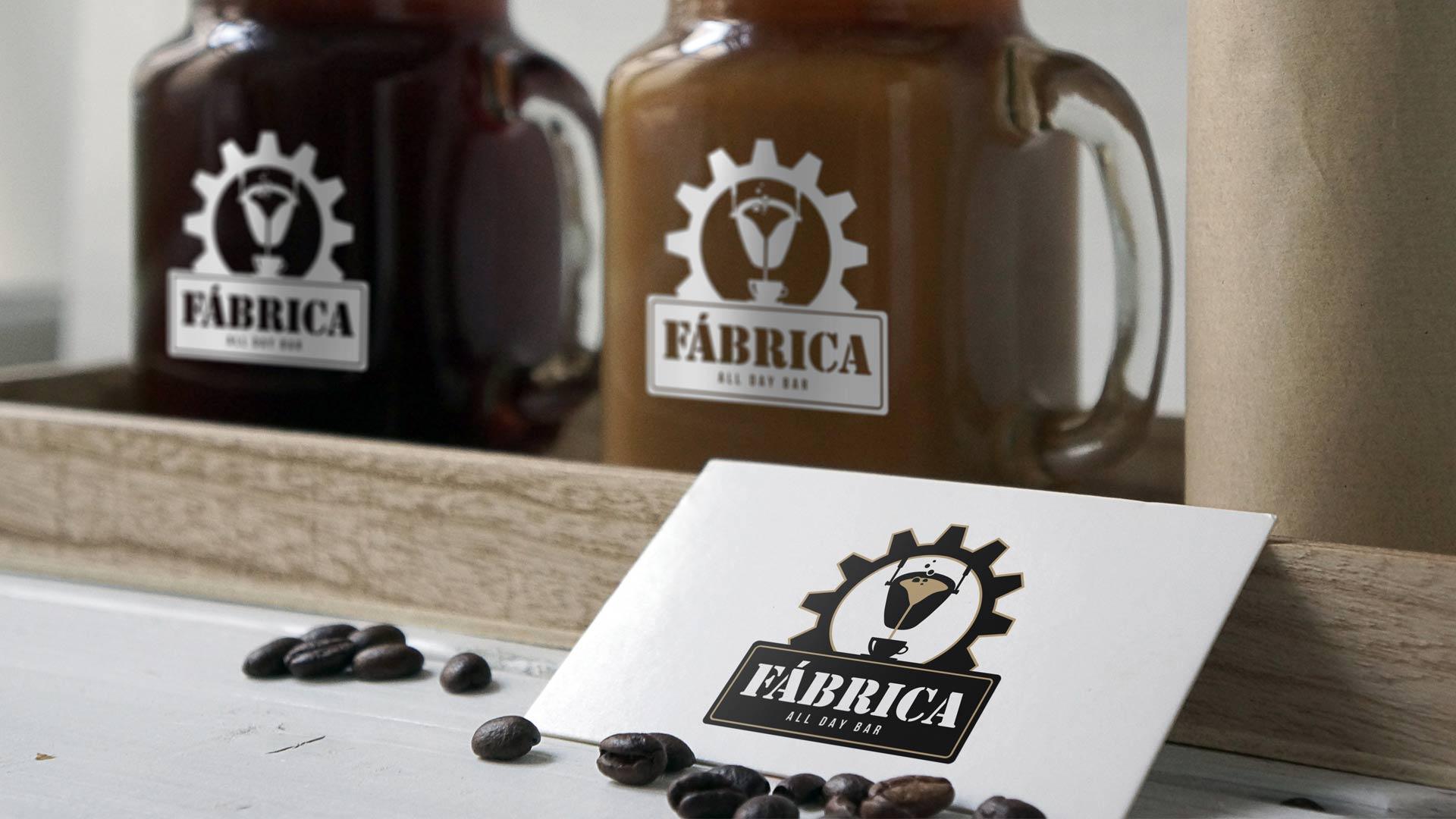 Industrielles Branding mit Logo-Design für das Café Fábrica von Wurzelwerk