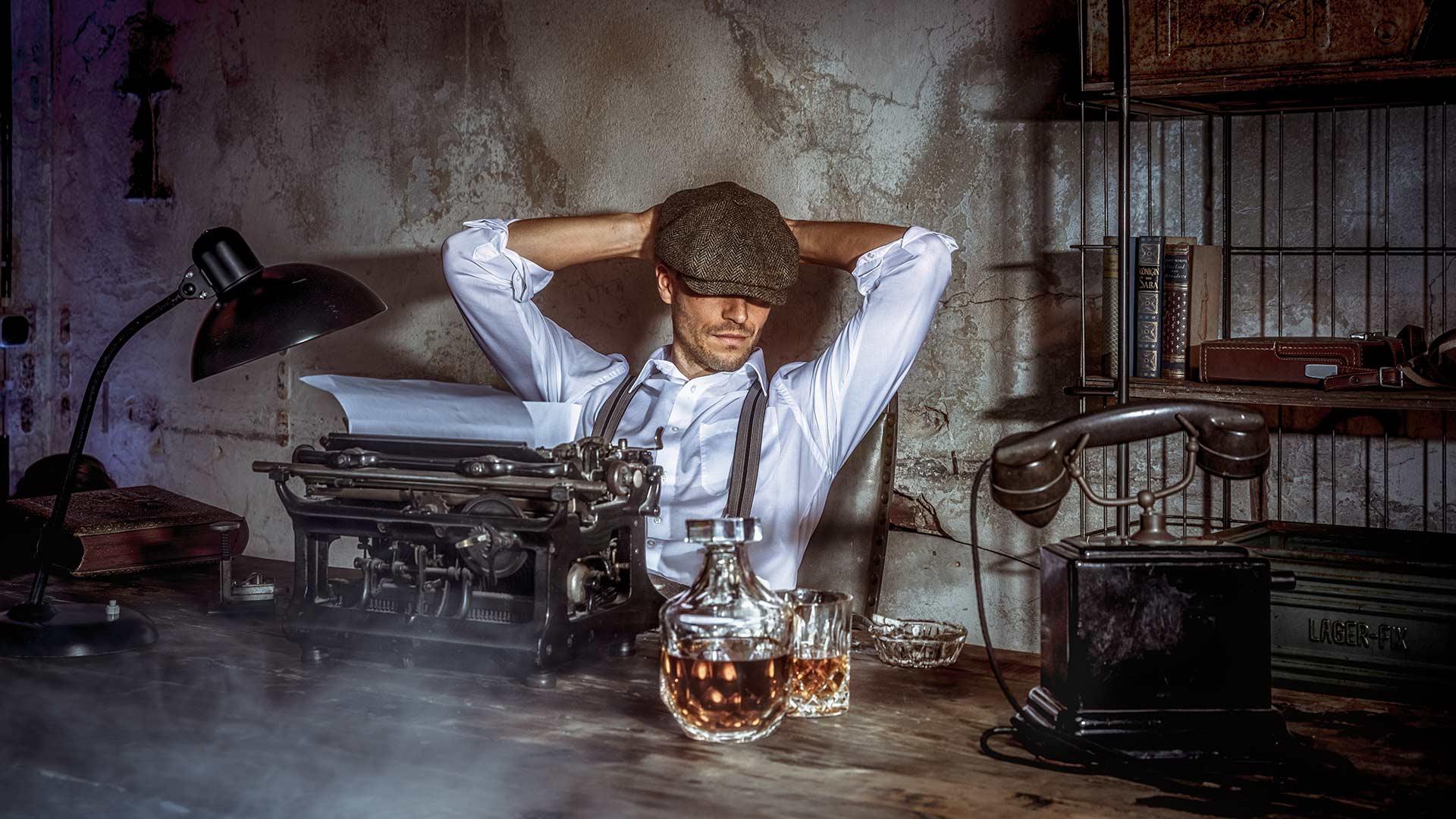 Film Noir Fotoshooting: Motiv Privatdetektiv