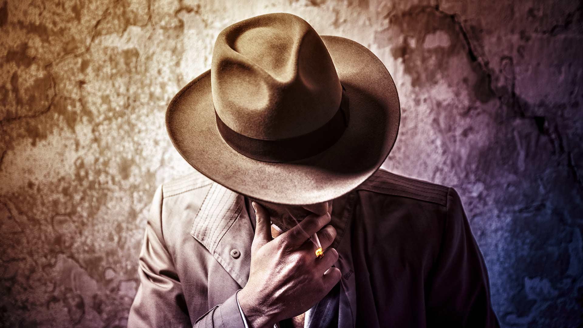 Film Noir Fotoshooting: Motiv Detektiv