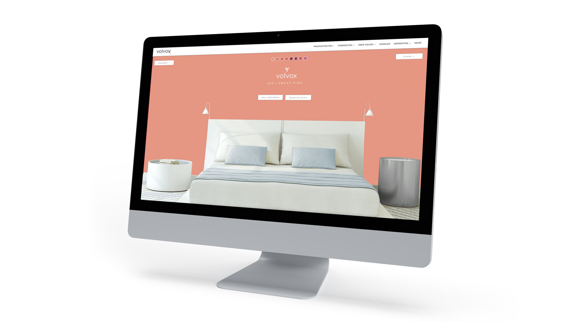 Farbenfrohe Website und modernes Corporate Design für einen Farbenhersteller von Wurzelwerk