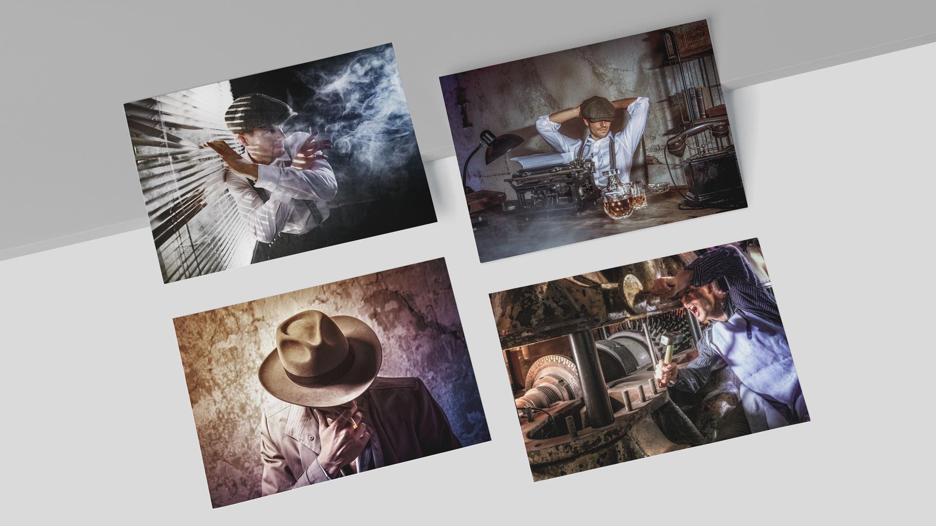 Kreatives Film Noir Fotoshooting für Imagebilder