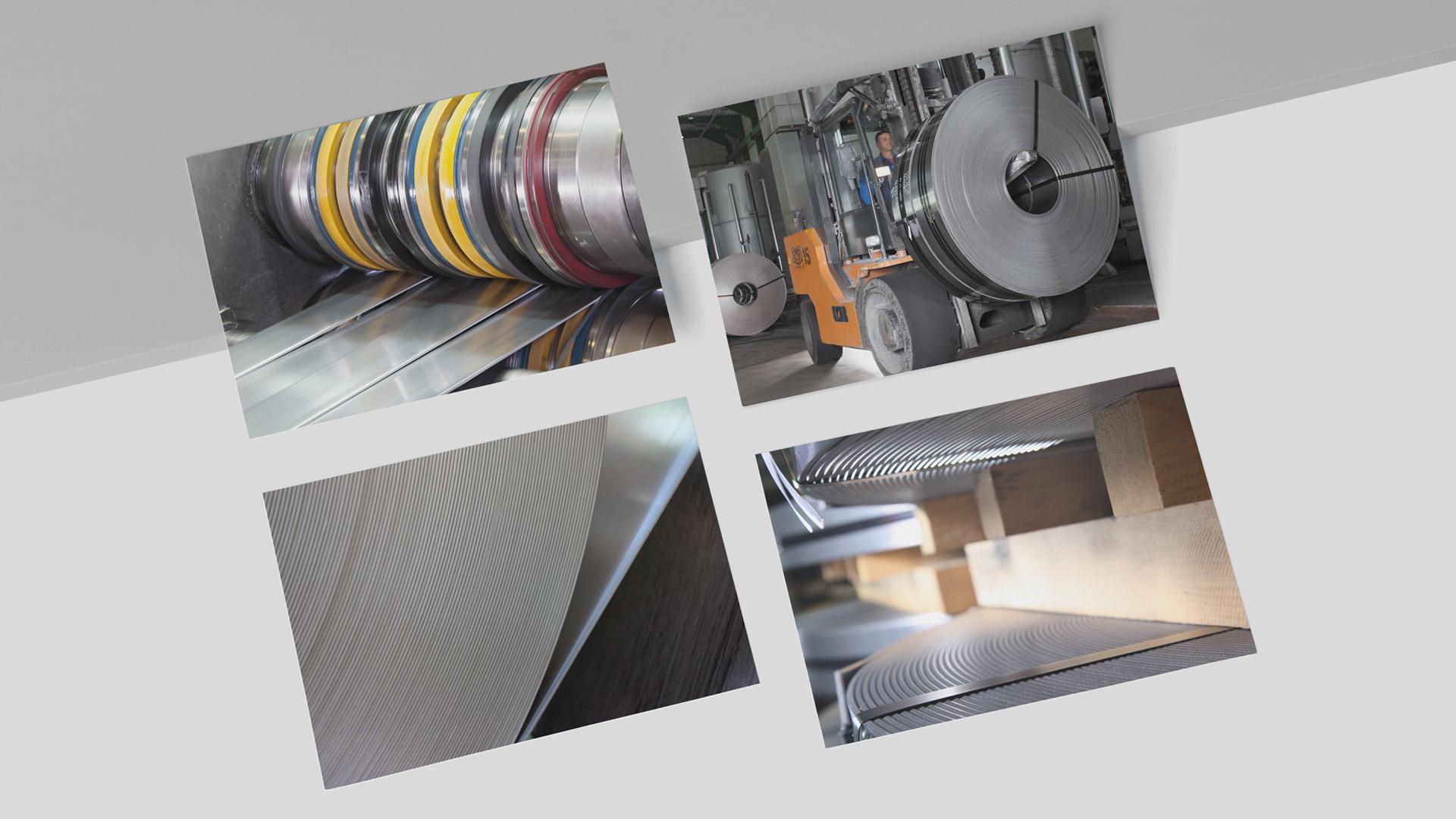 Fotoshooting von Produkten und Material im industriellen Kontext
