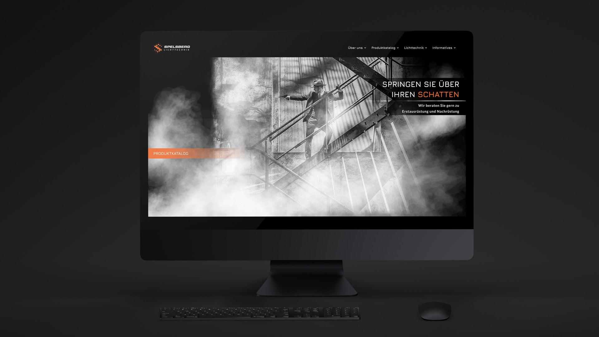 Film Noir Motive prägen das Webdesign von Wurzelwerk