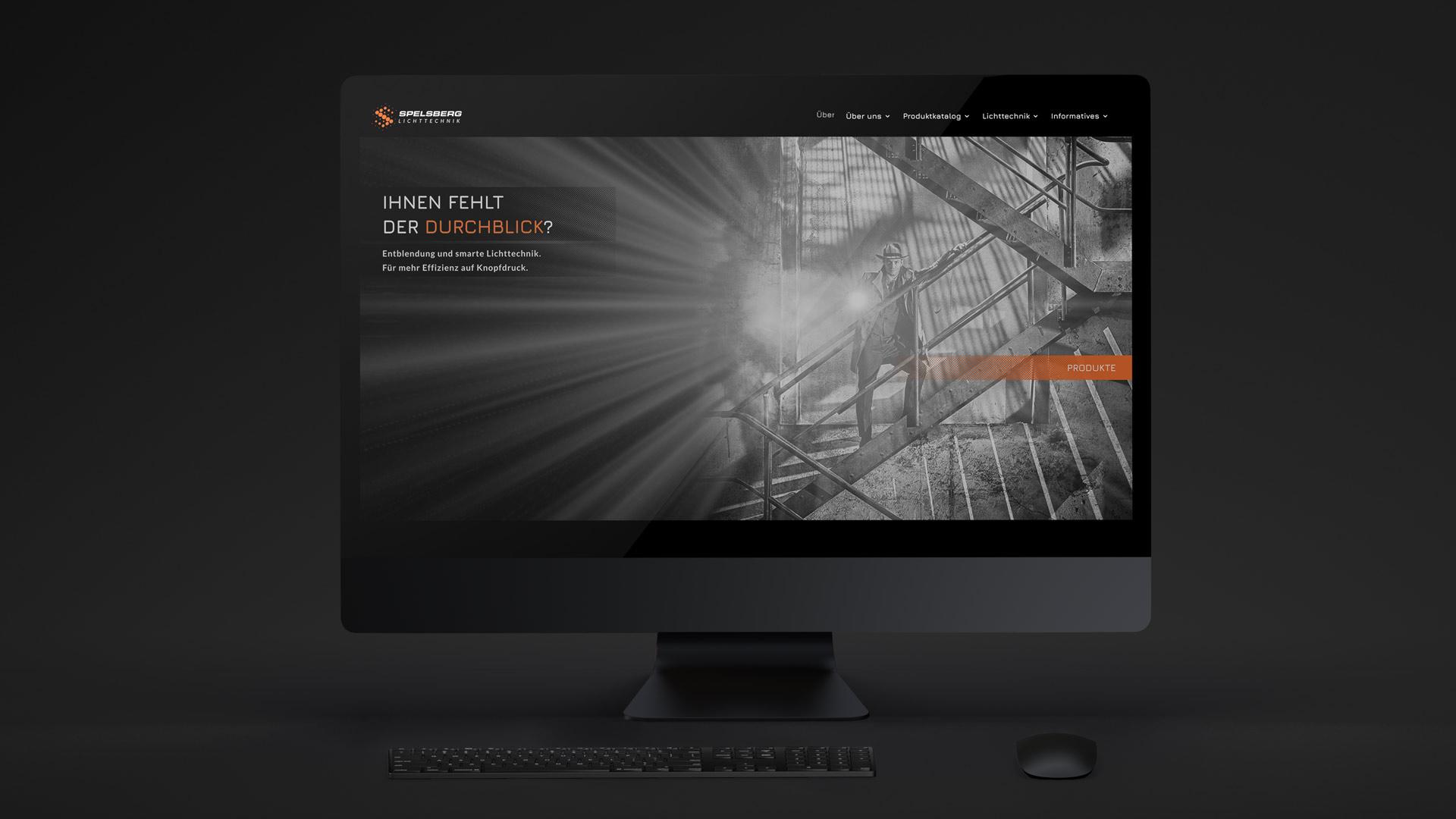 Website mit integriertem Webshop für Spelsberg Lichttechnik von Wurzelwerk