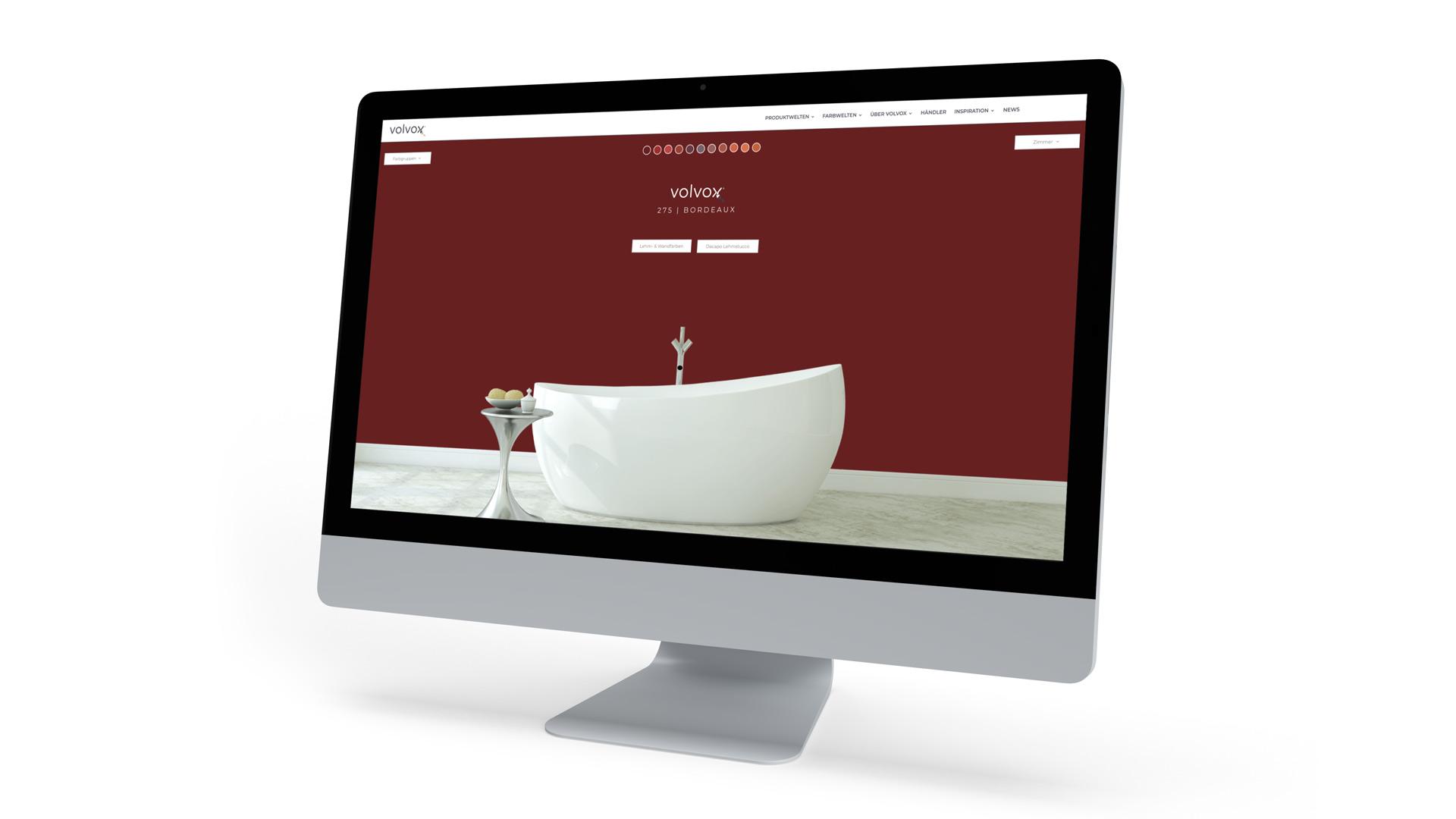Moderne Website mit Farbkonfigurator von Wurzelwerk