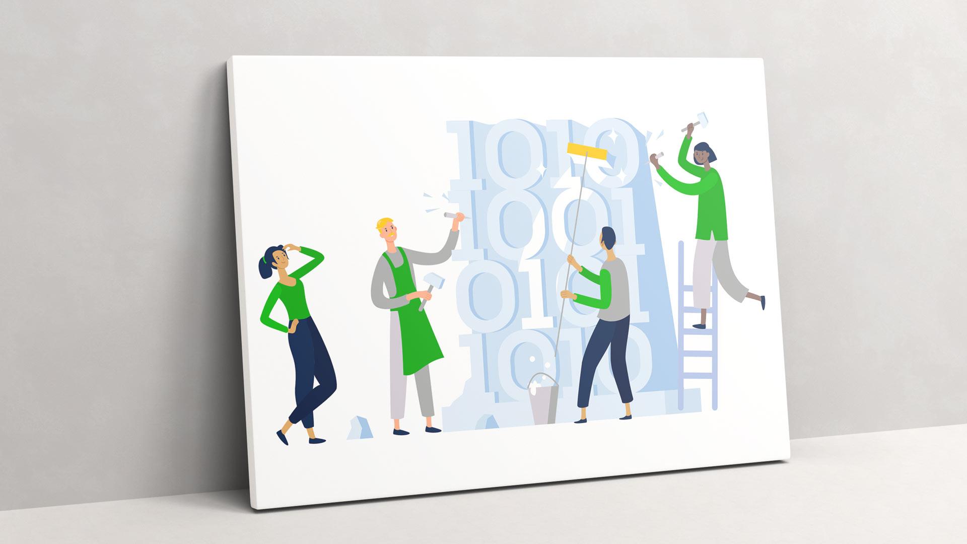 Illustration von Wurzelwerk zum Thema Code und Programmieren