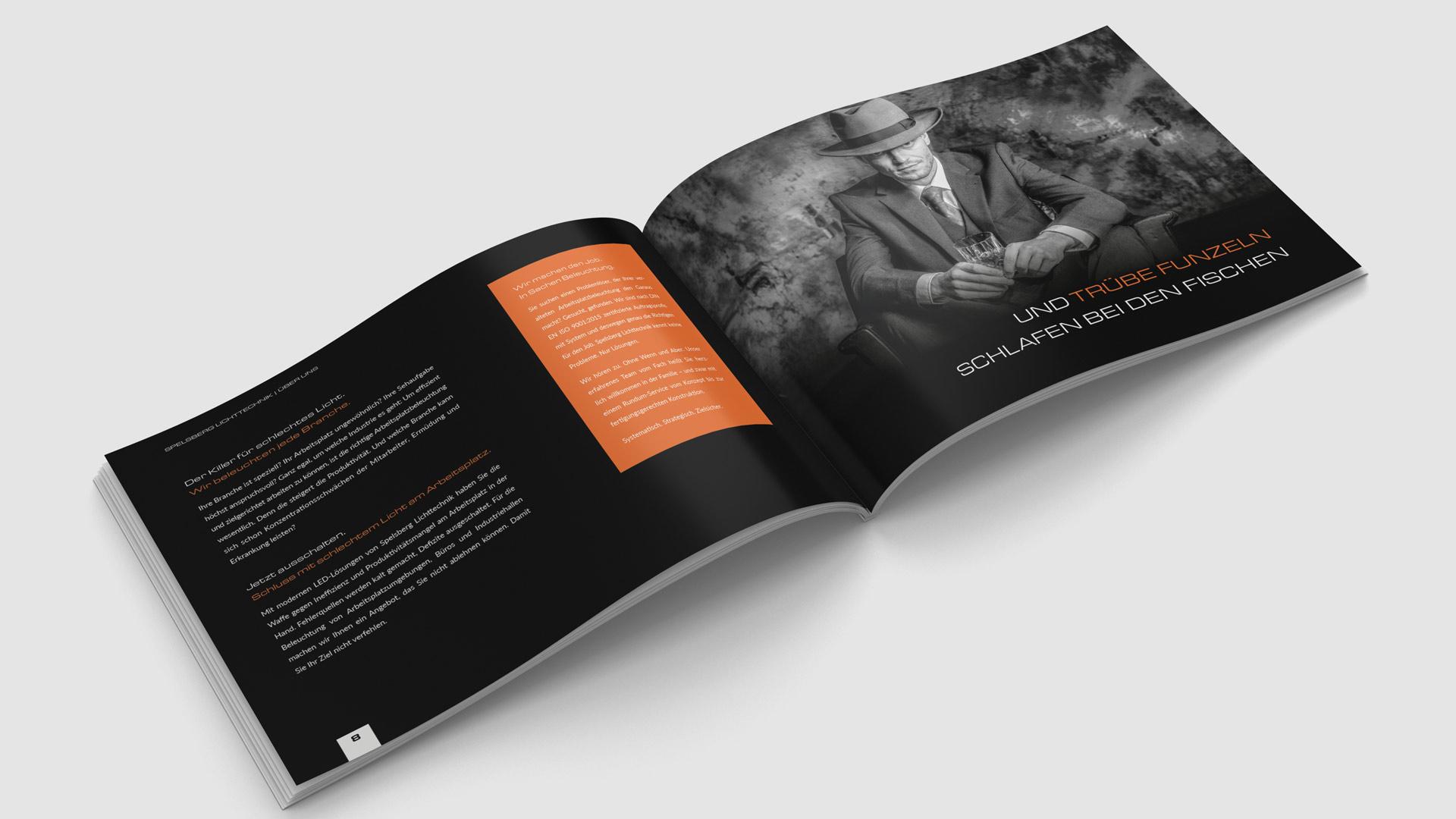 Werbemittel und Broschüren für Spelsberg Lichttechnik