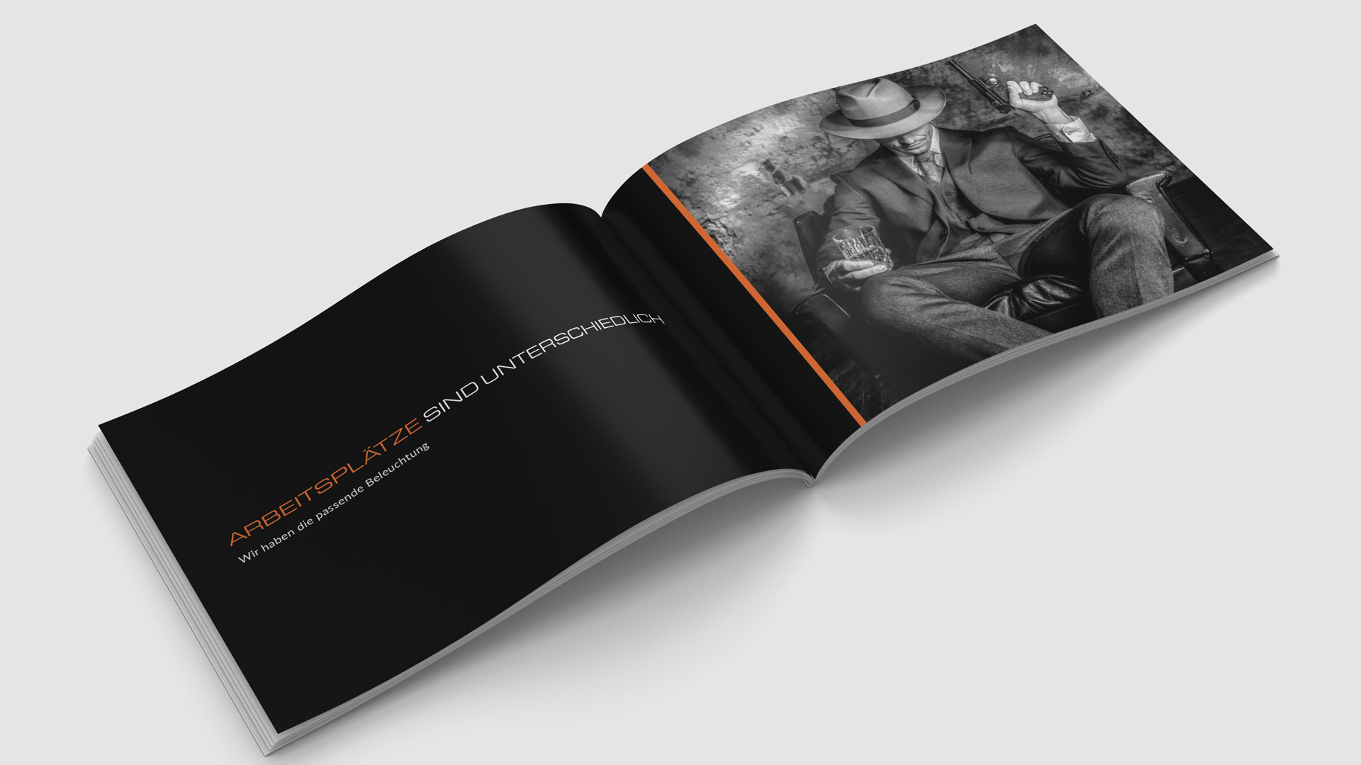 Image- und Produktkatalog mit Film-Noir-Motiven von Wurzelwerk